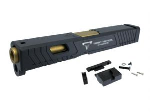 Pro Arms TTI Combat Master Aluminium Slide & Barrel Set For Marui G19 GBB (Black)